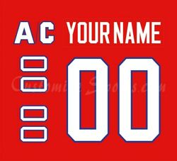 Montreal Canadiens Customized Number Kit For 1984-97 Red Jersey