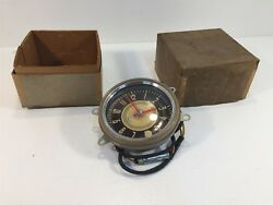 Vintage New Old Stock Delco Appliance Dash Clock General Motors Black And Tan 5