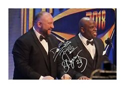 The Dudley Boys Wwe A4 Signed Photograph Picture Poster. Choice Of Frame.