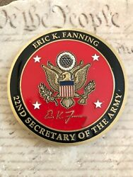 Eric Fanning 22nd Secretary Of The Army Secarmy Challenge Coin