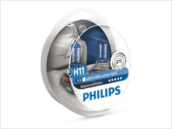 2x NEW PHILIPS DIAMOND VISION H11 12362DVS2 HEADLIGHT DRIVING LIGHT BULBS