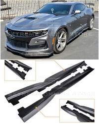 For 19-Up Camaro SS | RS T6 Style ABS Plastic Side Skirts Rocker Panel Extension