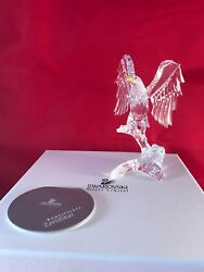 Swarovski Crystal Bald Eagle NEW IN BOX Rare Retired Never Displayed Packed Away