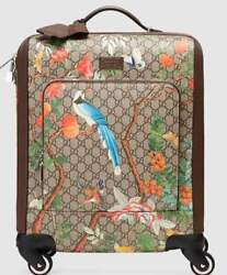 GUCCI Tian Travel Suitcase Luggage Bag Case Bird Floral GG Supreme New Unused