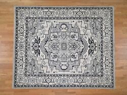 8and0391x9and0399 Handknotted Peshawar Geometric Pure Wool Oriental Village Rug G43543