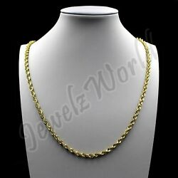 Real 10K Solid Yellow Gold 2.5mm Diamond Cut Rope Chain Pendant Necklace 16quot; 30quot; $119.99