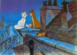 disney cel aristocats rooftops of paris edition rare cell and promo binder page