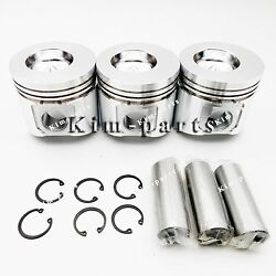 3 Sets Std Piston Set Clip And Pin With Rings For Utility Tractor 790 4300
