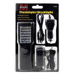 15 Led Flashlight/worklight-rechargeable, Belt Clip. Lot Of 100 For 12.00 Each.