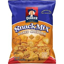 Quaker Baked Cheddar Snack Mix, 1.75 Ounce Pack Of 40 Packaging May Vary