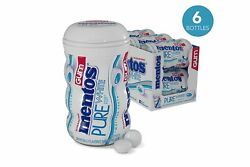 Mentos Pure White Sugar-free Chewing Gum With Xylitol Sweet Mint 50 Piece B...