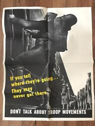 Original Wwii If You Tell Where Theyand039re Going... Poster War Bonds World