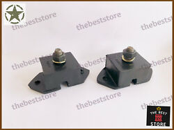 New Willys Ford Jeep Mb Gpw Engine Mounts Nut Set Fits See Description