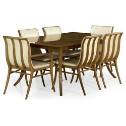 T.H. Robsjohn-Gibbings Mid Century Set of Six Dining Chairs & Table circa 1957