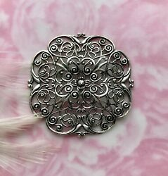 Antique Silver Embellishment Dapt Filigree Stamping Jewelry Finding Cb-3053