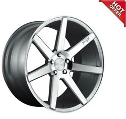 Fit Bentley 20 Staggered Niche Wheels M179 Verona Gloss Silver Machined Popular