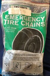 Campbell - Emergency Tire Chains - Set Of Two-brand New-sub Compact And Compact