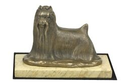 Yorkshire Terrier - figurine with a dog on sandy marble Art Dog USA