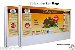 200pc True Liberty Turkey Bags 18 X 20 Smell Proof Oven Safe Save Bay Hydro