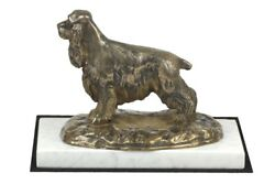 English Cocker Spaniel - figurine with a dog on white marble Art Dog USA
