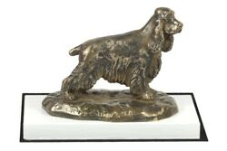 English Cocker Spaniel - figurine with a dog on a white wooden base Art Dog USA