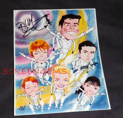 Lost In Space Rare Signed Photo Billy Mumy Caricature Art Bob Bentovoja Tv Mint