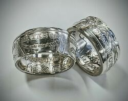 1921 Morgan Silver Dollar Coin Ring Sizes 8-17 Handcrafted From A Real Coin