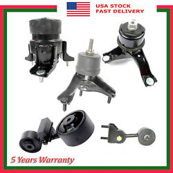 Set 5pcs M1224 Engine Motor And Trans Mount Auto For 2007-2009 Toyota Camry 2.4l