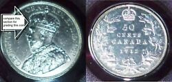 1912 Canada 50 Cents -high Grade For A Canada George V Coin