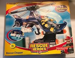 Rescue Heroes Rescue Chopper With Blade Spinning Action Unopened Fisher Price
