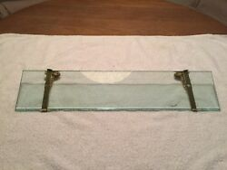 Brasscrafters Antique Vintage Shelf With Brass Brackets, Soap Dish And Cup Holder