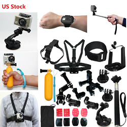 Auction Camera Accessories Kit for Gopro Go pro Hero 8 7 Black 6 5 4 Motorcycle $17.99