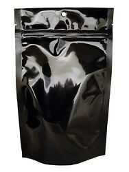 Stand-Up Pouch Stock Bag - Black Foil Stand-Up Food Saver Pouches 1000pcs