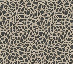1804-121-01 - Aurora Interlocking pebbles Black Gold 1838 Wallpaper