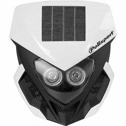 White Polisport Lookos Solar L.E.D. Headlight