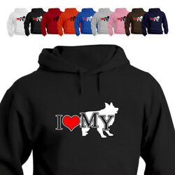 I Love My Border Collie Dog Lover Hoodie Gift 881