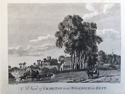 1775 Antique Print Charlton, Near Woolwich, S.e. London After Paul Sandby