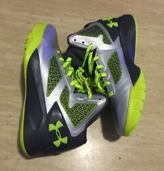 Under Armour Clutchfit Drive 2 Basketball Shoes Silver Grey Yellow size 5.5 $32.99