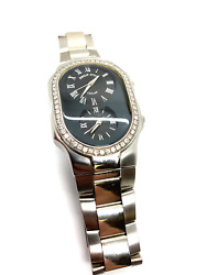Philip Stein Dual Time Mid Size Watch With Diamonds