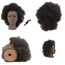 Mannequin Head African American With 100 Human Hair Cosmetology Afro Hair Head