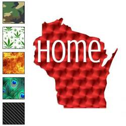 Wisconsin Home State Decal Sticker Choose Pattern + Size 3851