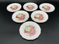 Queen Anne Lady Sylvia Dessert Bread Butter Plate X 6 Bone China England