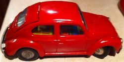 Antique 60s Japanese Tin Toy Rare Toy Town Volkswagen Vw Beetle Battery Car