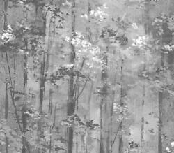 1804-118-05 - Aurora Woodlands Black Grey 1838 Wallpaper