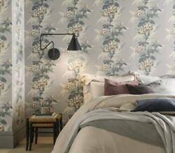 1804-116-06 - Aurora Floral Grey White 1838 Wallpaper