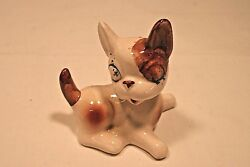 Vintage Ceramic Playful Cute Bulldog Puppy Collectible Figurine~Japan