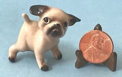 VTG Miniature McFarlin Potteries Hagen Renaker Porcelain Puppy Dog Figurine HTF
