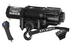 4500lb Wide Kfi Stealth Synthetic Rope Winch Kit - Utv For Jeep Buggy Sand Rail