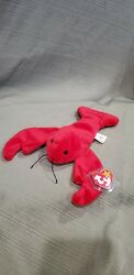 Ty Beanie Baby Pinchers The Lobster W/errors 1993 Pvc Style 4026 New And Retired
