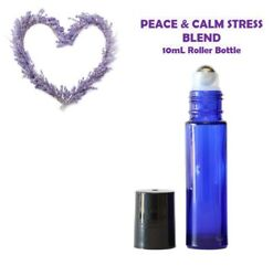 PEACE & CALM STRESS Blend Essential Oil 10mL ROLLER, Stress Relief, Calm,Balance